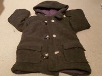 Mothercare Boys winter Duffle coat - 2- 3 years