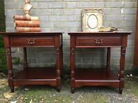 PAIR VINTAGE BEDSIDE TABLES FREE DELIVERY 🇬🇧REGENCY STYLE