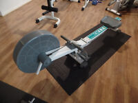TRIO OF HOME GYM EQUIPMENT - EXERCISE BIKE, DELTA AIRMASTER ROWING MACHINE AND MARCY CROSS TRAINER