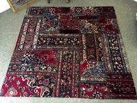"""2 Gorgeous Antique Persian Rugs 6' x 6' and 3'6"""" x 12' Wool, decorators dream"""