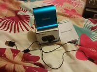 Mini.portable speaker in blue