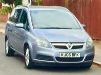 2006 VAUXHALL ZAFIRA 1.8 LOW MILEAGE SERVICE HISTORY FULL YEARS MOT 3 MONTHS WARRANTY