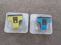 2 x HP 363 Ink Cartridges in Yellow and Blue