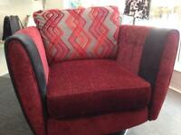 Swivel armchair