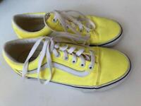 VANS yellow UK size 4.5 (EU 37)