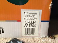 Kampa Caravan Cover Brand New Still Boxed Unopened 640 - 701 CM Green