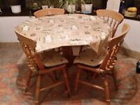 Pine Dining Table and Chairs x 4 for £50
