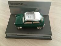 Classic Austin Mini Car Miniature clock Mantle piece Desk