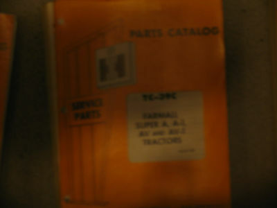 International Ih Farmall Tc-39c Part Catalog Super A