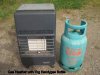 Gas Heater with Handygas 7kg Cylinder