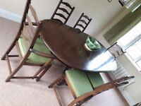 Ercol Dark Beech Dining Table & 6 Chairs