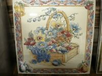 CERAMIC TILE Flowers and Fruit 12inch x 12inch 300 x 300 Made in spain