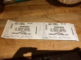 2 Chemical Brothers Tickets Standing Glasgow Face Value