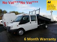 Ford Transit 350 LWB RWD Crew Cab TDCi Tipper***NO VAT with ONLY 82000 Miles