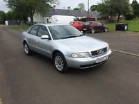 Audi A4 4door saloon 1.8se 1998 Silver F.S.H 55,112 miles 2 owners from new , MOT till December.