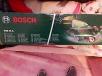 Brand new BOSCH GREEN PBS-75A 240v Belt sander 75 x 533mm Flat Belt. Dewalt Makita Stanley