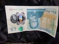 New 5 Pound Note. AK47 666