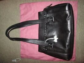 Radley Black Leather Medium Designer Handbag Excellent Condition
