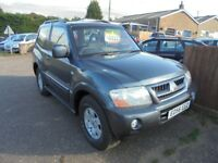 2006 56 mitsubishi shogun 3.2 diesel swb 4 work NO VAT. 30 + cars in stock.