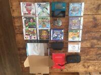 Nintendo 3DS Aqua Blue with bundle of games