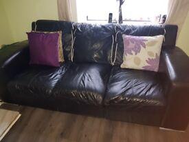 Leather Italian 3&2 seater sofa