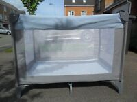Mothercare travel cot in excellent condition - hardly used - with travel bag