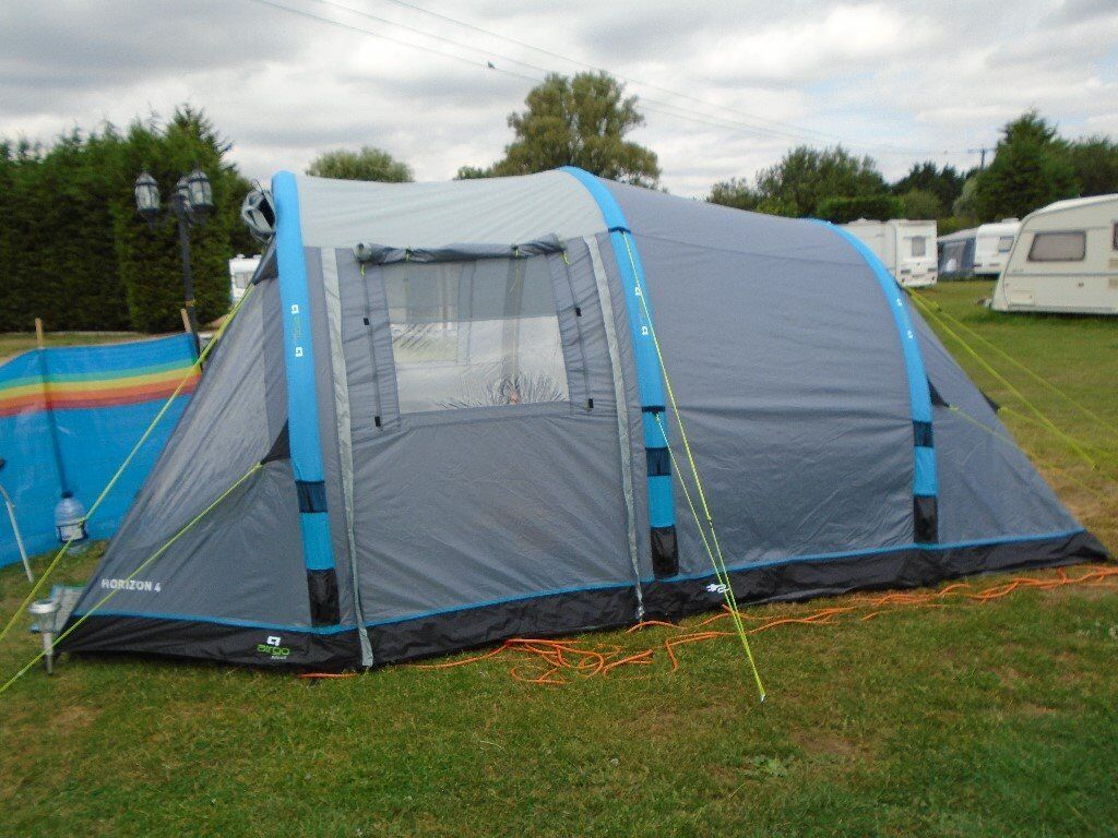 Tent 4 Person Airgo Solus Inflatable Used Only Once In