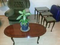 Coffee table and 3 side table