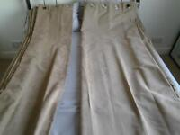 a pair of blackout curtains in mocha colour 90 x90 in good condition 12 ono