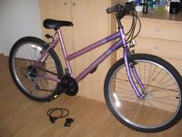 "26"" WHEELS FEMALE SMALL SIZE FRAME UNIVERSAL FUSION BIKE"