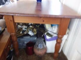 PINE DINING TABLE AND TWO CHAIRS CAN DELIVER