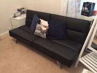 Sofabed, brown (Tenby Click Clack)