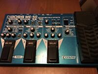 Guitar/Audio Recording Equipment: Boss ME 50 (Multiple Effects Pedal) & Alesis FireWire Mixer