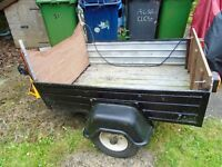 """Car Trailer, size 1193.8mm (47"""") x 990.6mm (39"""") Bottom & Sides Aluminium, Ends Ply"""