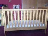 Mamas & Papas cot bed with matress