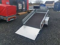 BRAND NEW MODEL 7X4 FLAT TIPPING TRAILER WITH A RAMP