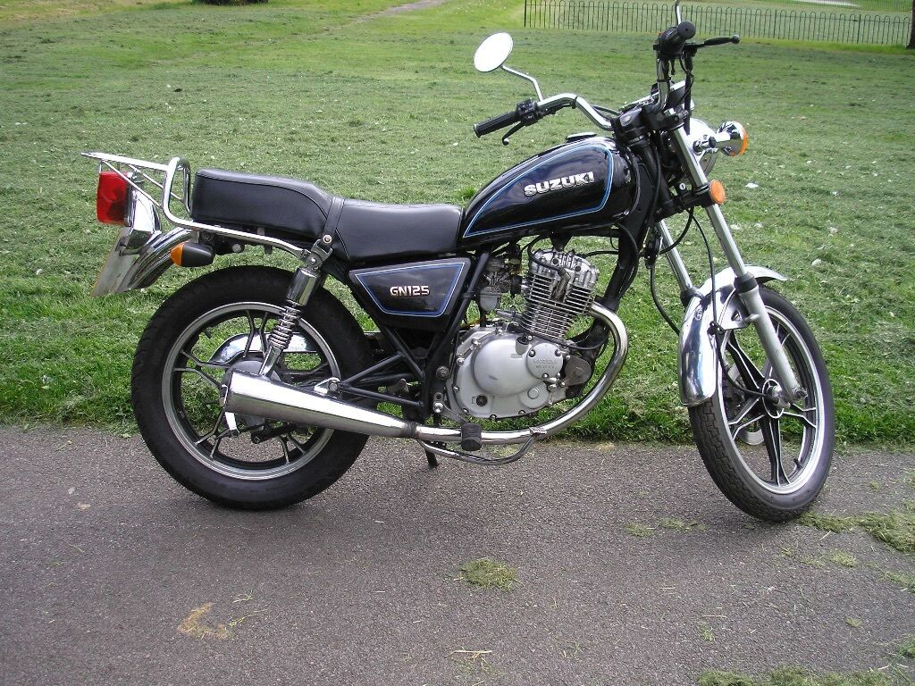 suzuki gn 125 custom cruiser style in kirkby in ashfield. Black Bedroom Furniture Sets. Home Design Ideas