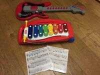 Guitar and Little Tikes Xylophone Kids Baby Music Musical Toys