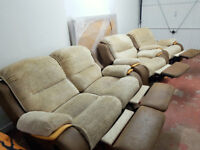 Electric recliner sofa and 2x armchairs. Local delivery is available.