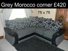 Corner sofa grey modern