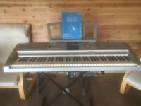 Yamaha DGX-505 Portable Grand Digital Piano/Keyboard with Stand,Power Cable and Manual