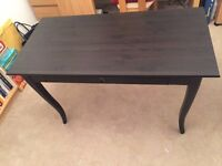 Black IKEA LEKSVIK Desk in Excellent Condition with NORRNÄS chair - only £60 - Worth £300