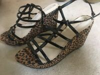 Red Herring High Wedges - Leopard Print