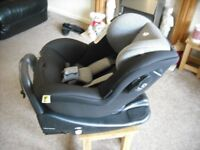 Joie car seat and Joie i-Base Advance Isofix Car Seat Base