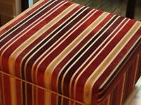 Ottoman and large floor cushion - Matching velvet striped fabric - Excellent condition