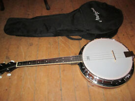 Martin Smith 4 String Tenor Banjo With 5mm Padded Gig Bag