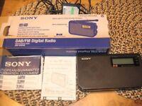 sony XDR-S55DAB radio dab/fm