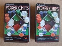 100 Dual-tone Professional Poker Chips Cardinal x 2 boxes
