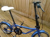 Folding unisex bike in very good condition.Rides well shimano 6 gears.Has pannier rack and stand