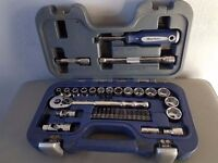"Blue Point by snap on 3/8"" 35 piece socket set, excellent condition"